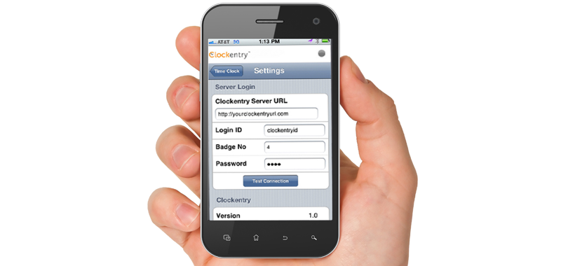 Abacus Payroll ClockEntry App on Smartphone iPhone Android