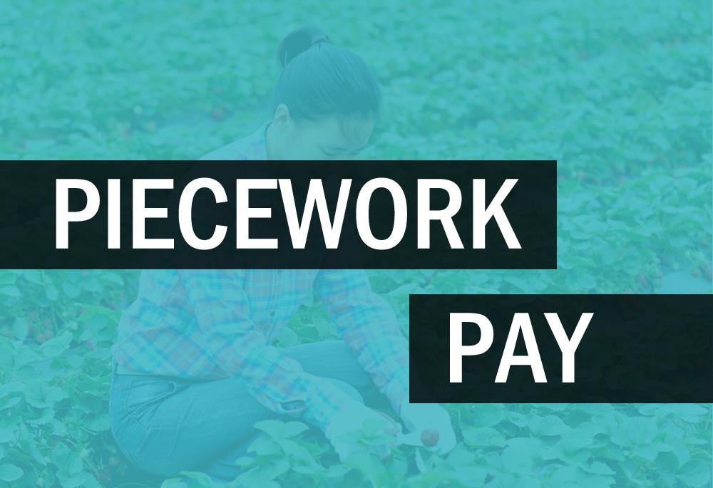 Piecework pay