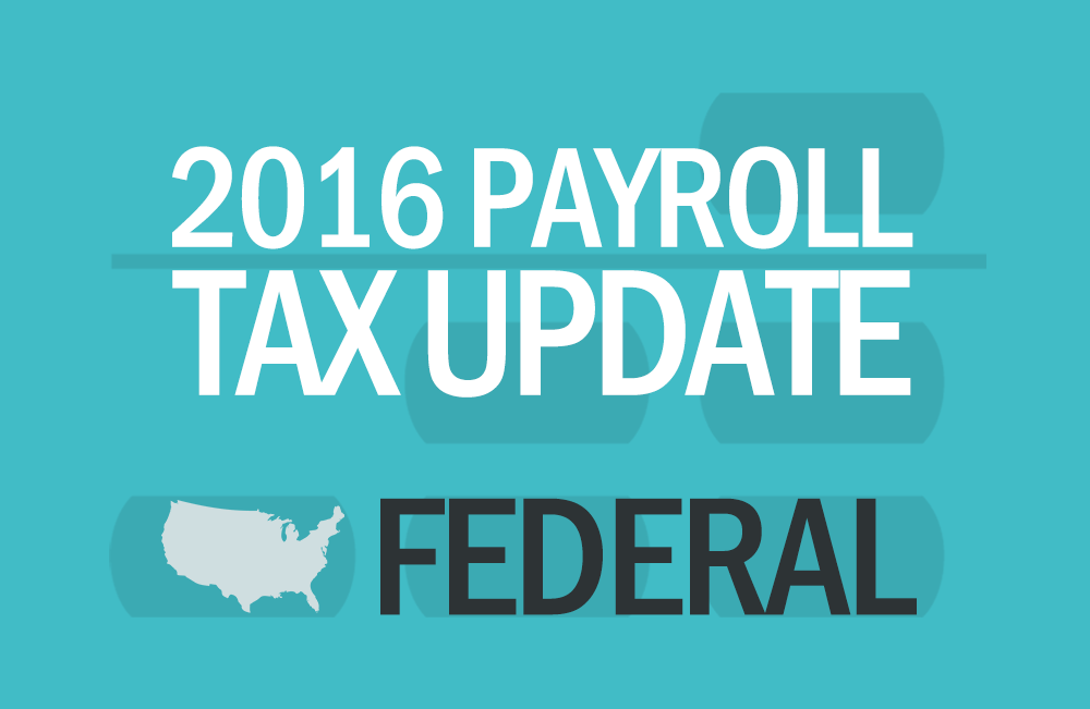 Abacus Payroll 2016 Payroll Tax Update