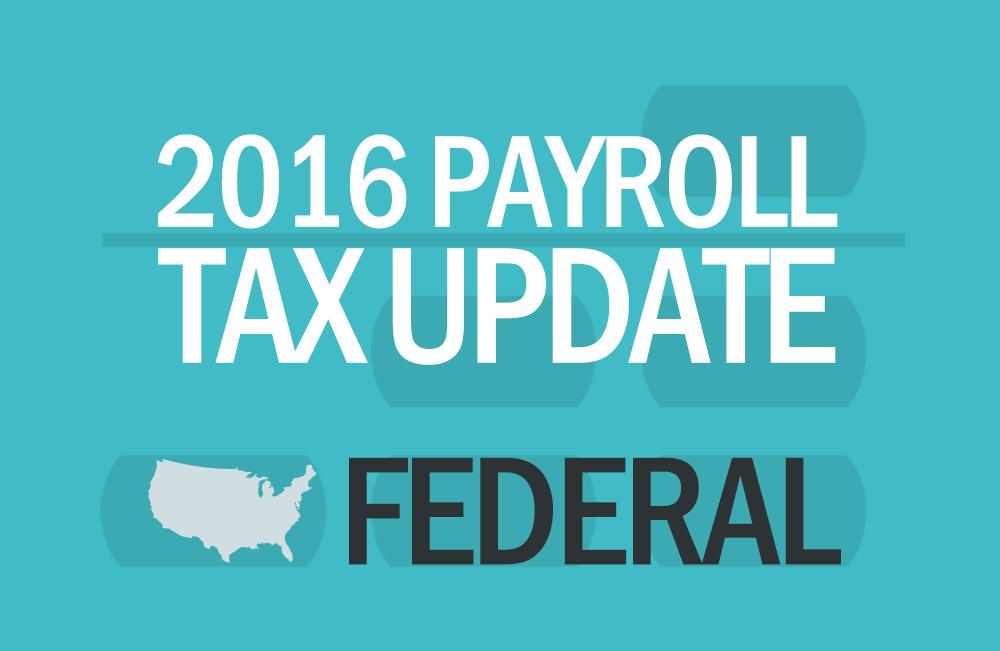 Abacus Payroll 2016 Payroll Tax Update