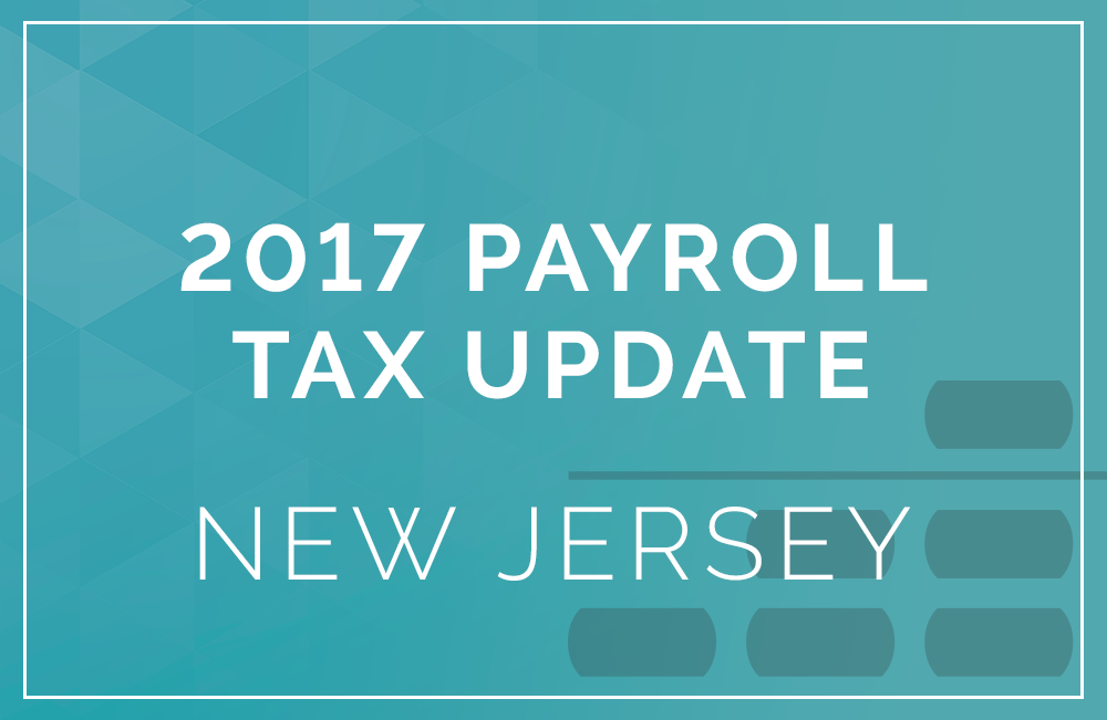 New Jersey payroll tax rates 2017