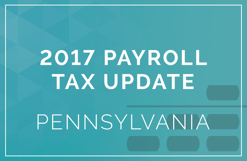 2017 pennsylvania payroll tax