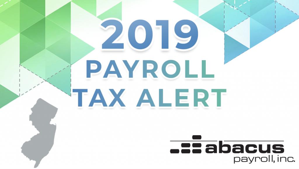2019 new jersey payroll tax rates