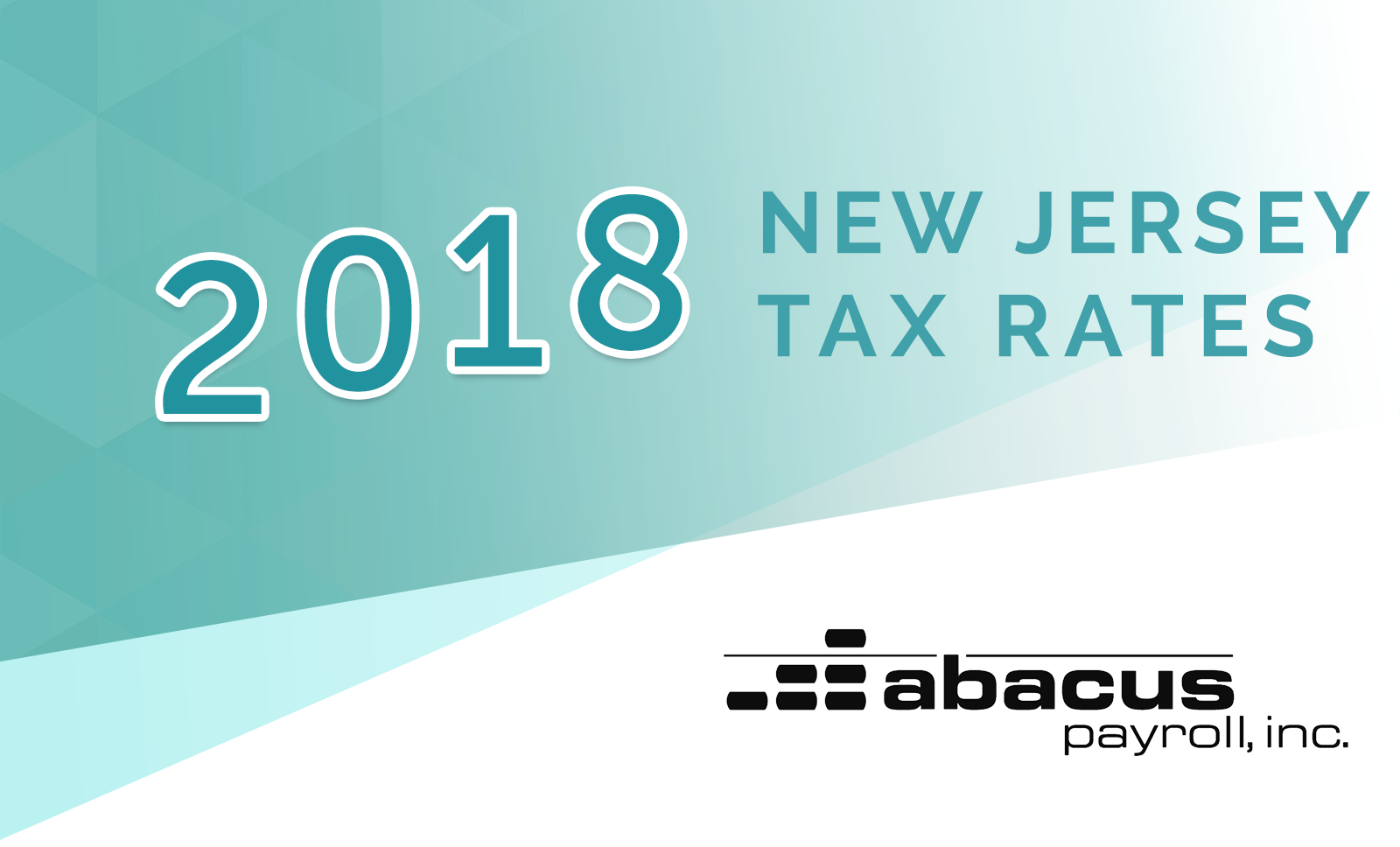 2018 new jersey payroll tax rates