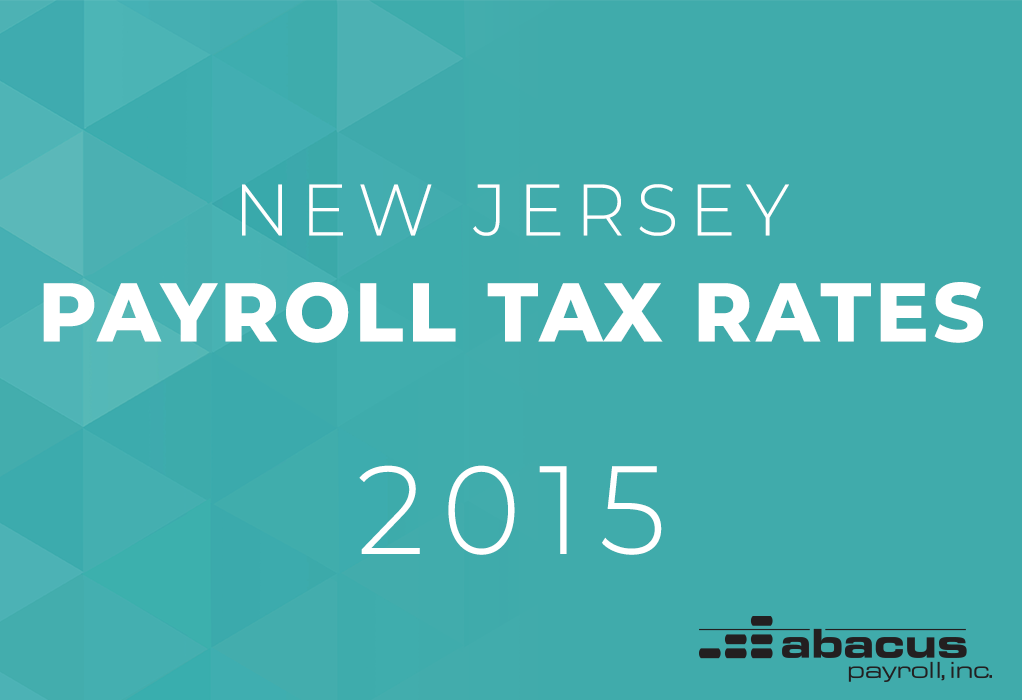 new jersey payroll tax rates in 2015