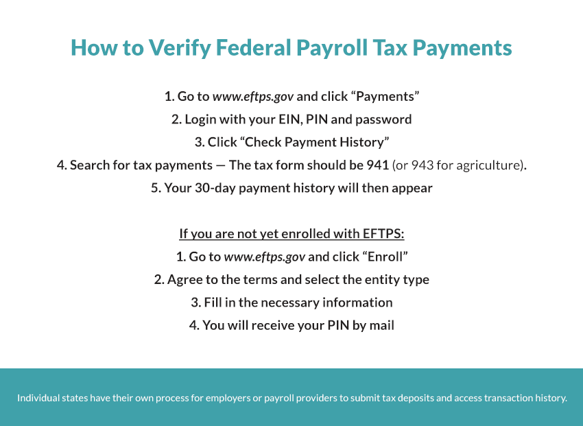 How to Verify and Monitor Federal Payroll Tax Payments and Deposits