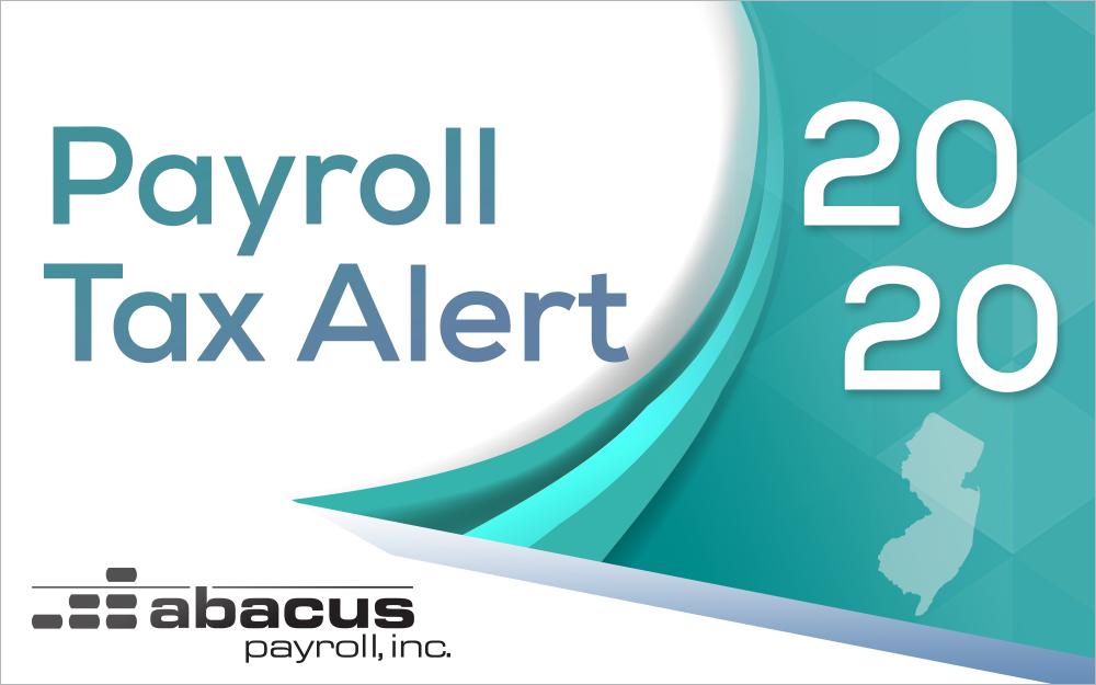 2020 new jersey payroll tax rates