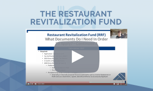 Webinar Informative VIdeo on how to apply for the restaurant revitalization fund